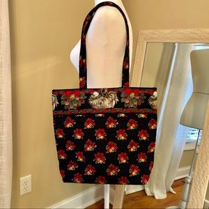 Vera Bradley Rare Hens and Holly Christmas Tote
